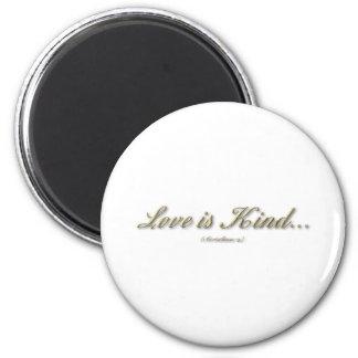 """Love is...."" ( 1 Corinthians 13 ) 2 Inch Round Magnet"