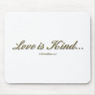 """""""Love is...."""" ( 1 Corinthians 13 ) Mouse Pad"""