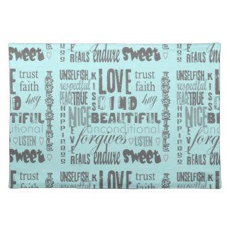 Love is 1 Corithians 13 Cloth Placemat
