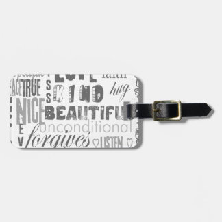 Love is 1 Corithians 13 Luggage Tag