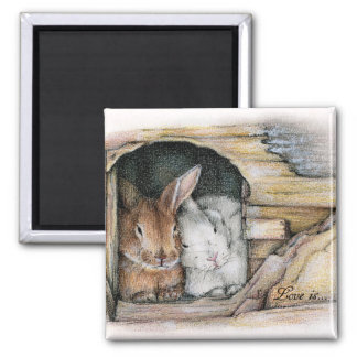 Love is... 2 inch square magnet