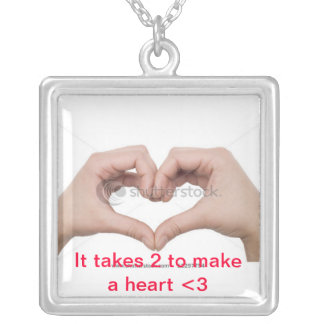 Love is 2 People Together :) Silver Plated Necklace
