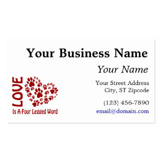 Love is a 4-letter word Double-Sided standard business cards (Pack of 100)