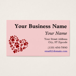 Love is a 4-letter word business card