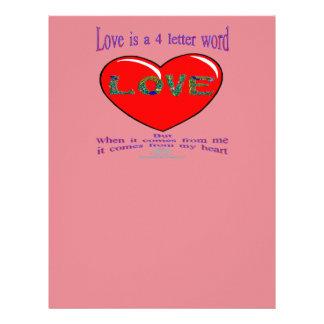 Love is a 4 Letter Word Letterhead