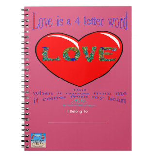 Love is a 4 Letter Word Notebook