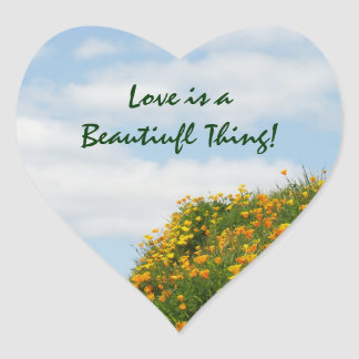 Love is a Beautiful thing! stickers Poppies seals