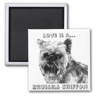 Love is a Brussels Griffon! Magnet