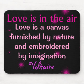 love is a canvas mousepad