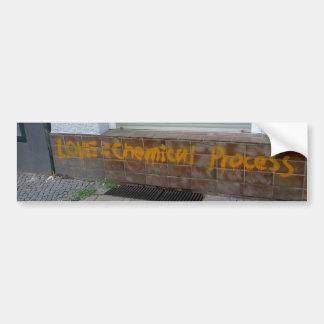 Love is A Chemical Process Bumper Sticker