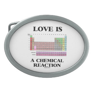 Love Is A Chemical Reaction (Periodic Table) Belt Buckle