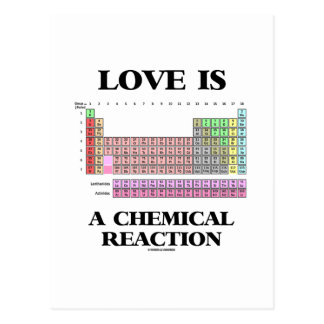 Love Is A Chemical Reaction (Periodic Table) Post Cards