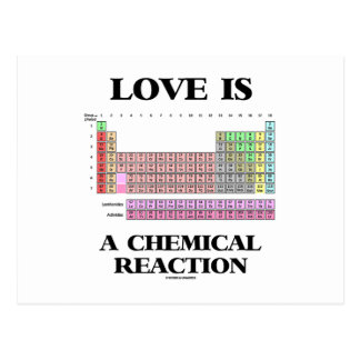 Love Is A Chemical Reaction (Periodic Table) Postcards