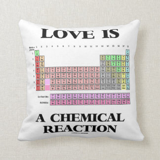Love Is A Chemical Reaction (Periodic Table) Throw Pillow