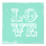 "LOVE IS A CIRCUS FLAT 5.25"" SQUARE INVITATION CARD"