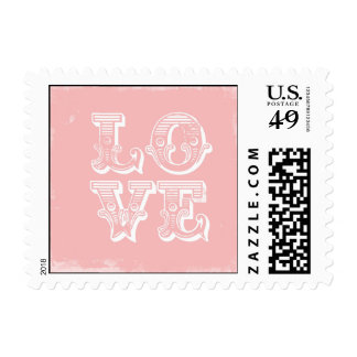 LOVE IS A CIRCUS POSTAGE PINK