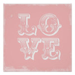 LOVE IS A CIRCUS PRINT::PINK POSTER