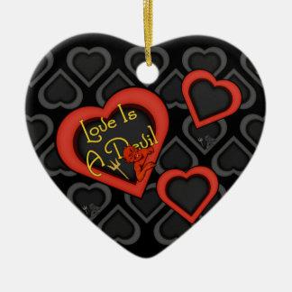 Love Is A Devil Medley Ceramic Ornament