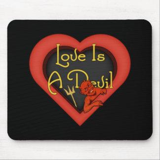 Love Is A Devil Mouse Pad