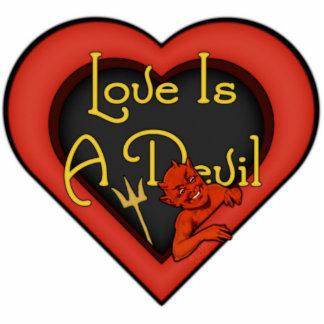 Love Is A Devil Photo Sculpture Button