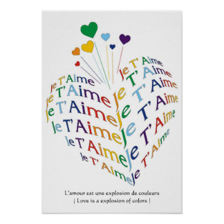 """Love is a explosion of colors / Poster 15""""x21.82"""""""