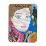 Love is a Fire Pop Art Music Magnet