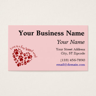 Love is a four legged word business card