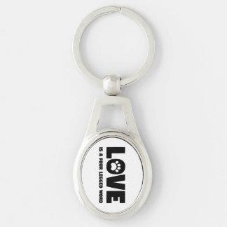 Love is a Four Legged Word Keychain