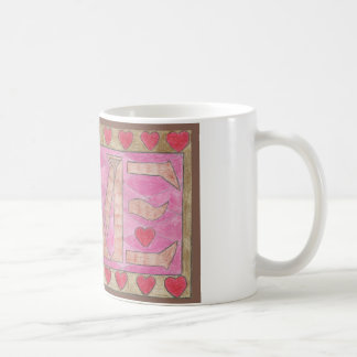 Love is a four letter word classic white coffee mug