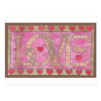 Love is a four letter word postcard