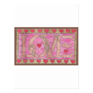 Love is a four letter word postcards