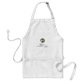 Love is A Friendship set to Music Adult Apron
