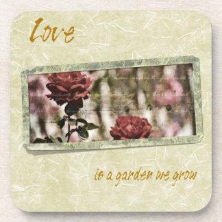 Love is a Garden We Grow Roses Beverage Coaster