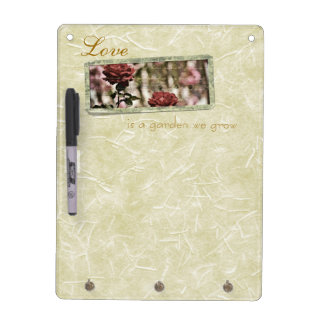 Love is a Garden We Grow Roses Dry-Erase Whiteboards