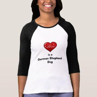 Love is a German Shepherd Dog T-Shirt