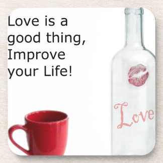 love is a good thing v2.png beverage coaster