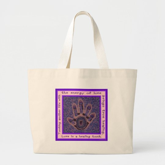 Love is a Healing Touch Large Tote Bag