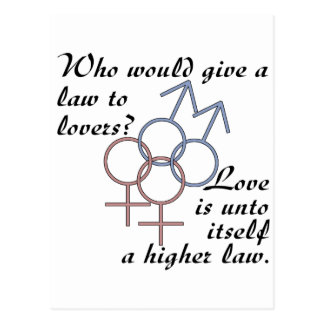 Love is a Higher Law Postcard