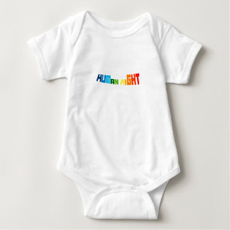 Love Is A Human Right LGBT Gay Pride Baby Bodysuit