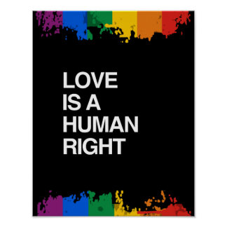 LOVE IS A HUMAN RIGHT POSTER