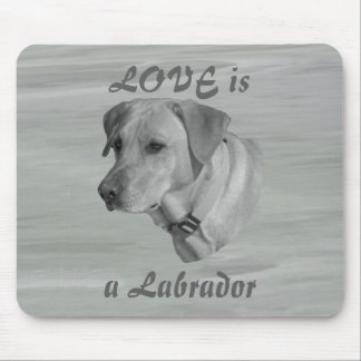 Love is a Labrador Face Mouse Pad