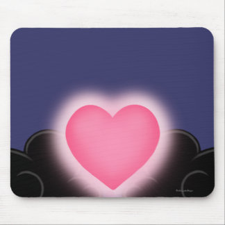 Love Is A Light In The Darkness - Pink Heart Mouse Pad