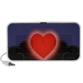 Love Is A Light In The Darkness - Red Heart iPhone Speaker