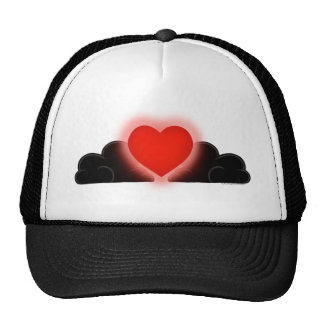 Love Is A Light In The Darkness - Red Heart Trucker Hat