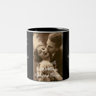 Love Is A Many Splendid Thing Engagement Party Mug