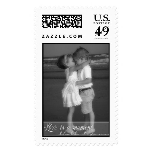 Love is a Moment Postage Stamp
