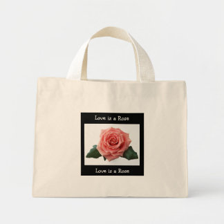 Love is a Rose, Pink Rose  Small  Tote Bag