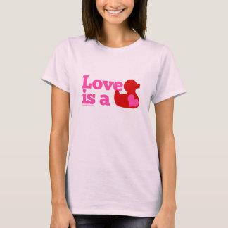 Love Is a Rubber Duck (Girlie) T-Shirt