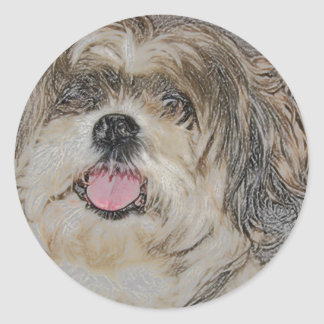 Love is a Shih TzU Classic Round Sticker