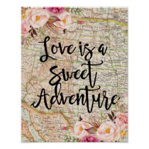 Love is a sweet adventure poster